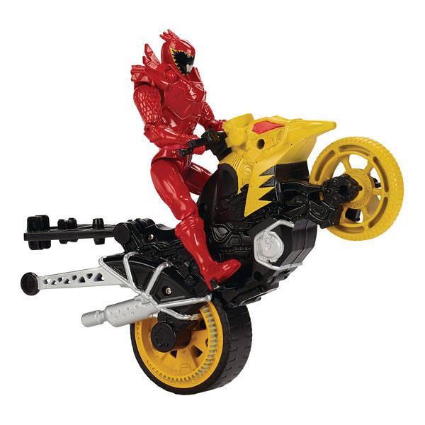 52008aefef31e Power Rangers moto cascade et figurine Rouge Bandai   King Jouet ...