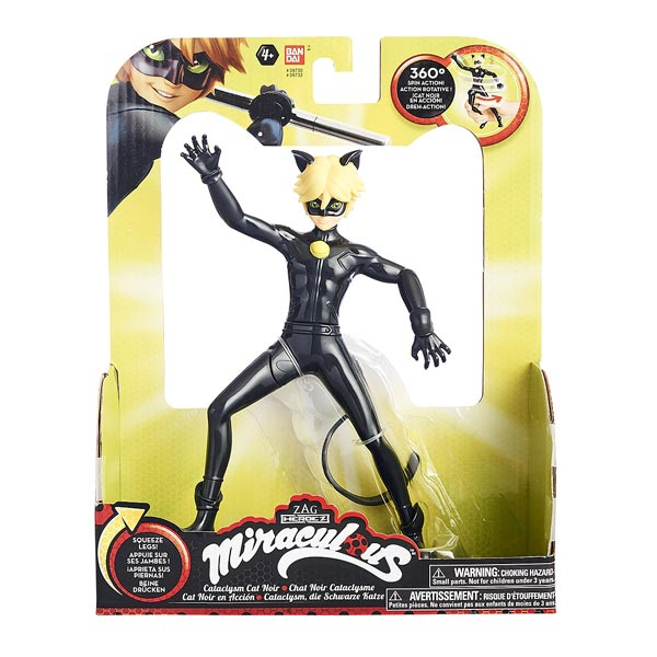 Ladybug figurine 19 cm fonction noir