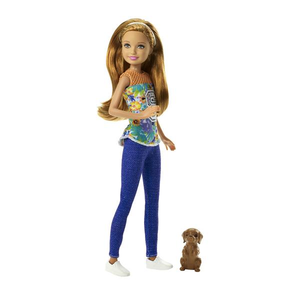 Barbie soeur chiot chatain jean bleu