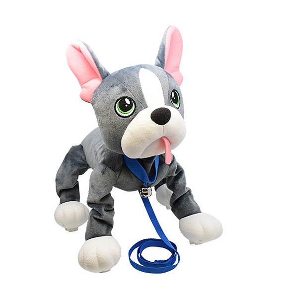 Les Peppy Pups toufous Chien bulldog gris