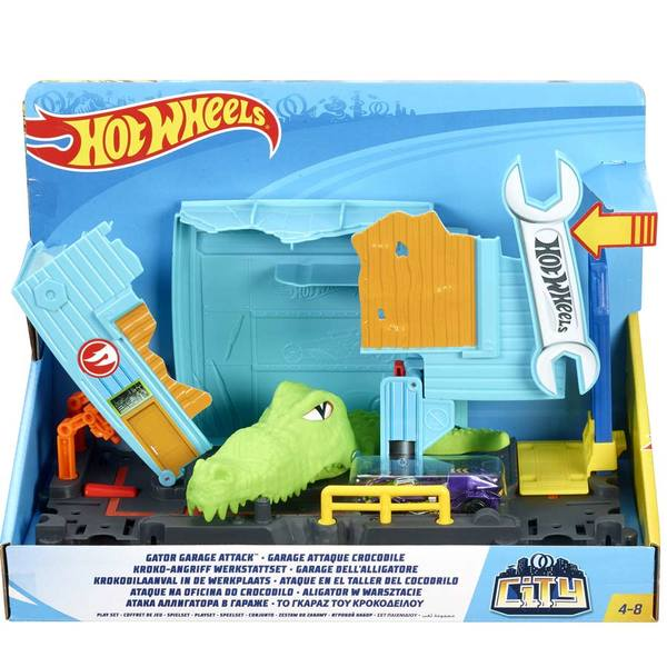 Hot Wheels City-Coffret créature Gator Garage