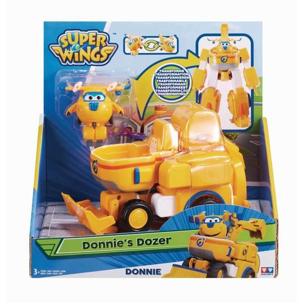 Super Wings-Véhicule transformable 18 cm Donnie avec figurine