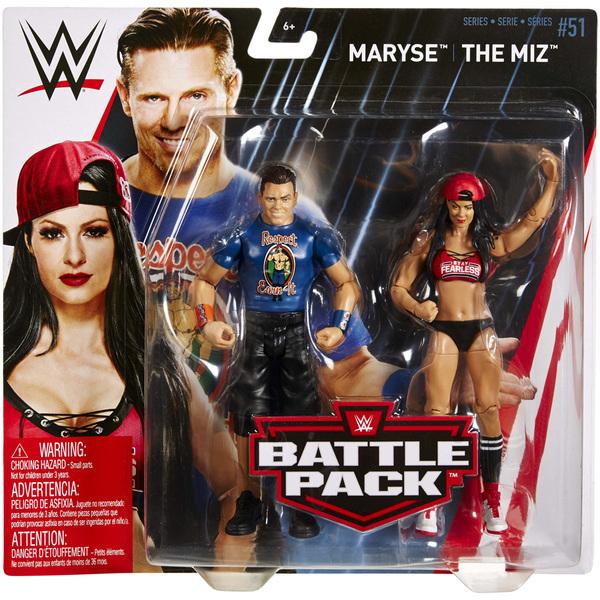 WWE-Coffret de 2 figurines de catch Maryse et The Miz 15 cm