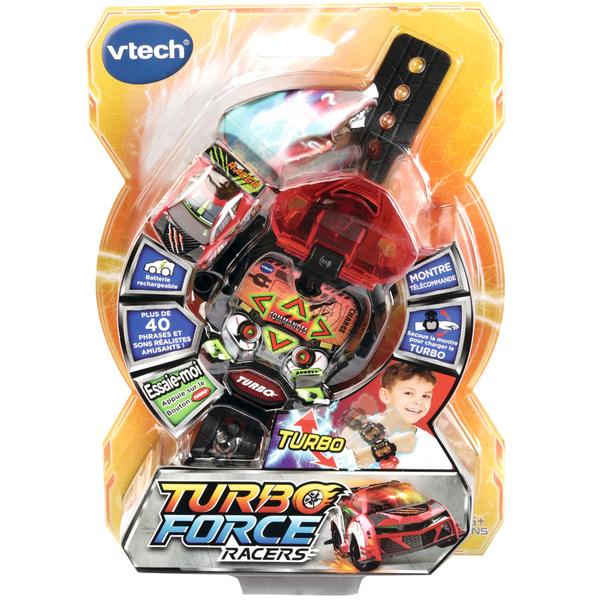 Voiture télécommandée et montre rouges - Turbo Force