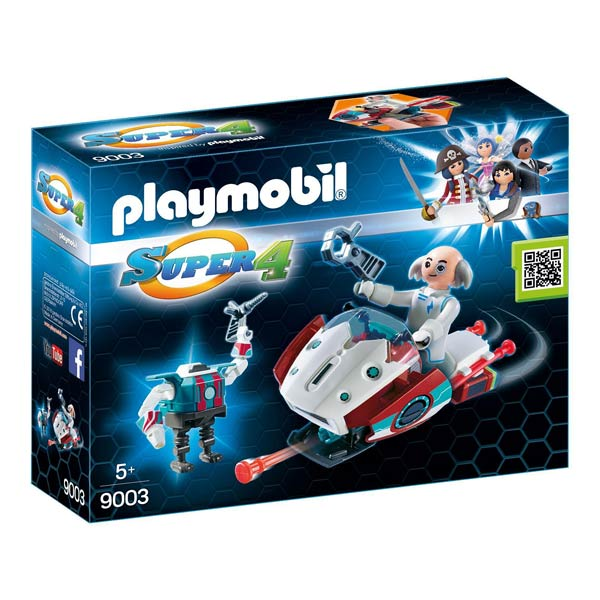 9003-Sky jet et docteur x - Playmobil Super4
