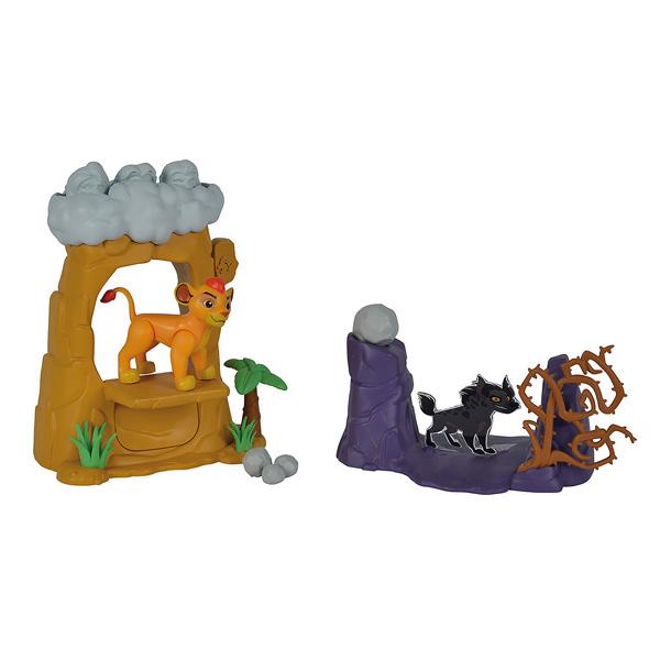 Playset Rocher des Lions La Garde du Roi Lion Simba + Figurine