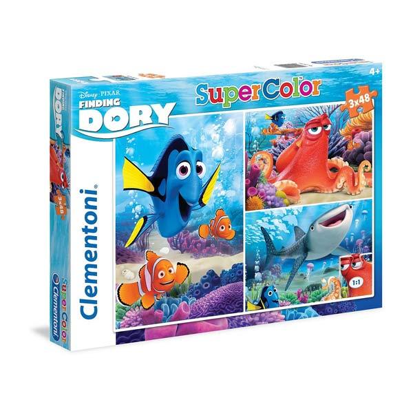 3 puzzles 48 pièces Dory