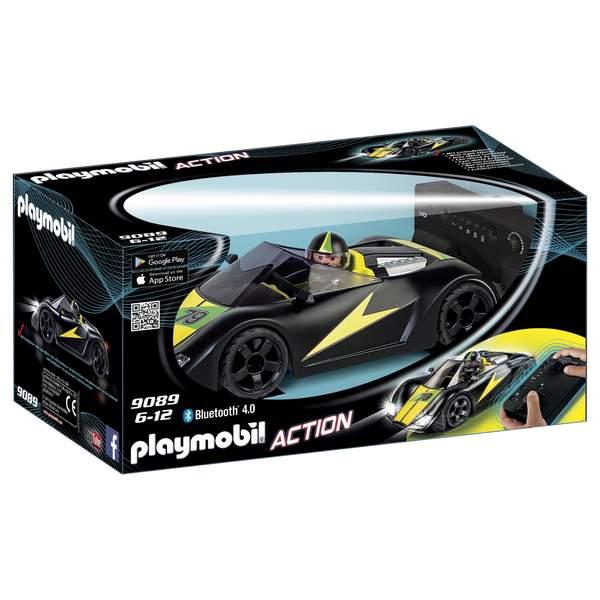 9089 - Voiture radiocommandée de course noire Playmobil Action