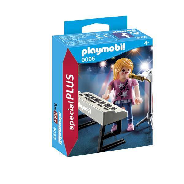 9095-Chanteuse avec synthétiseur Playmobil Family Fun