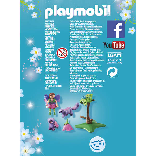 9140-Fée avec hibou et putois Playmobil