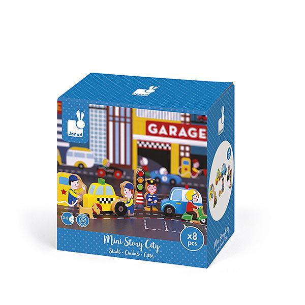 Mini Story - Garage city figurines bois