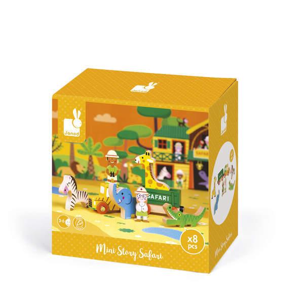 Mini Story - Figurines safari en bois