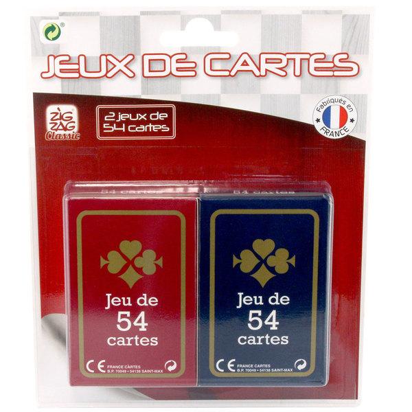 2 jeux de 54 cartes