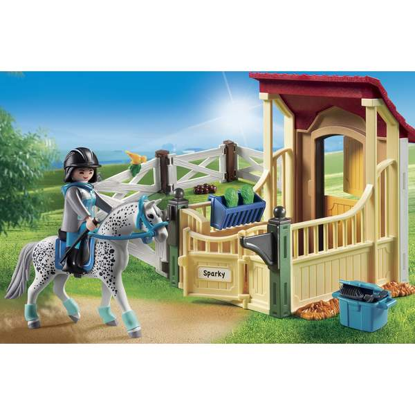 6935-Box avec cheval Appaloosa Playmobil Country