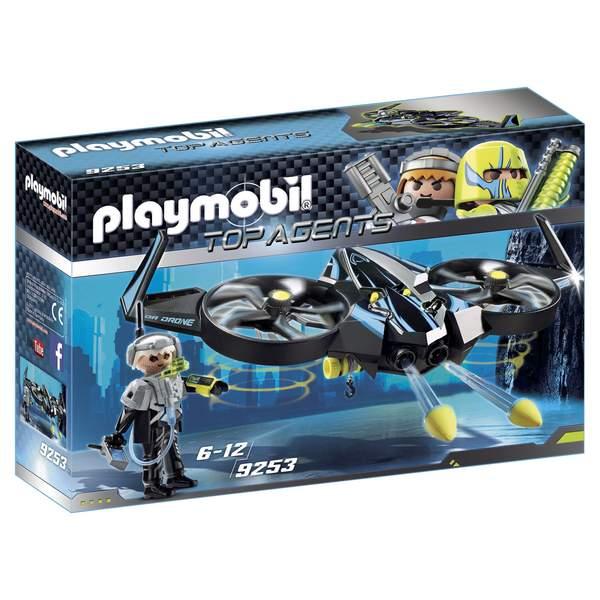 9253  mega drone playmobil top agents playmobil  king