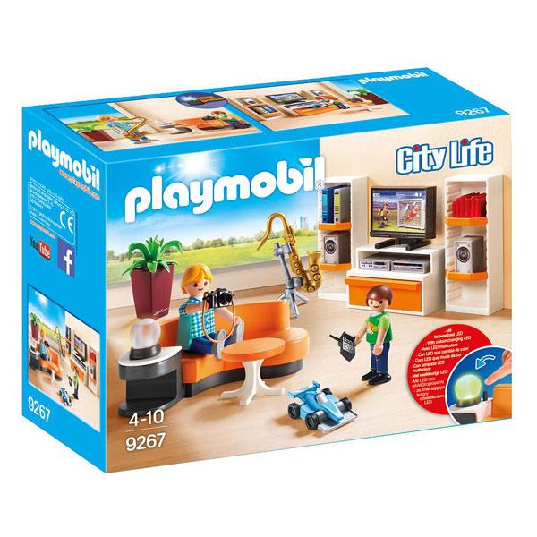 Life Salon Playmobil 9267 Équipé City L45A3Rjqc