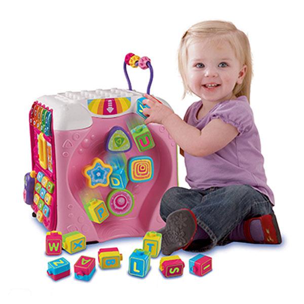 Maxi cube multi-activités rose