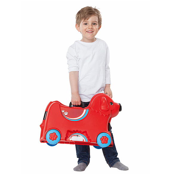 Valise bobby chien rouge