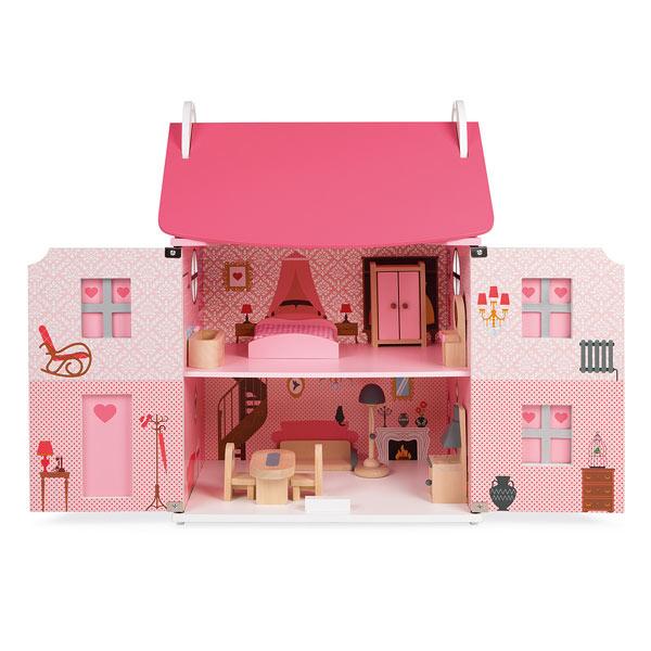 Maison de poupées en bois Mademoiselle