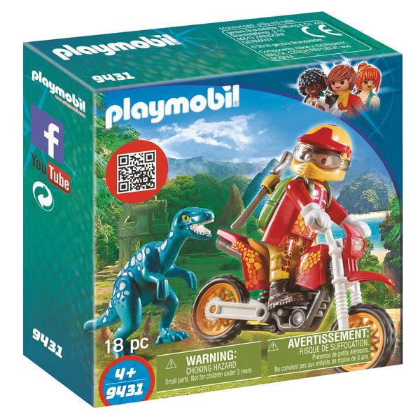 9431 Pilote Playmobil Moto Raptor Et De deCxBro