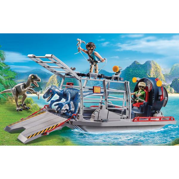 9433 - Playmobil bateau avec cage et deinonychus