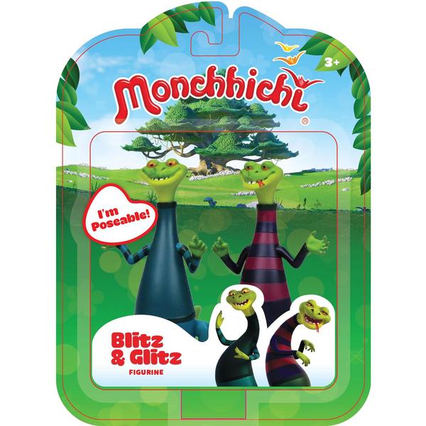 Monchhichi-Pack 2 figurines Blitz et Glitz