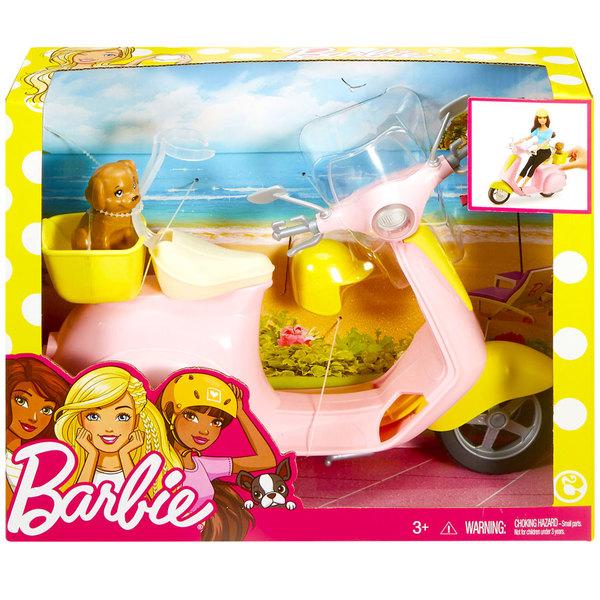 Barbie scooter et son petit chien