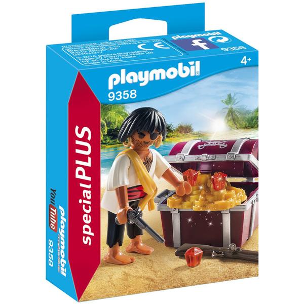 9358- Pirate avec coffre au trésor Playmobil Pirates