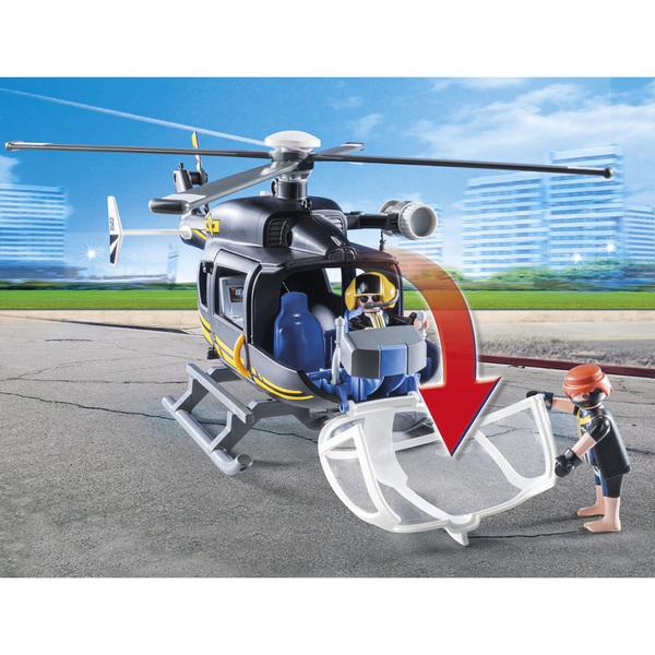 9363-Hélicoptère et policiers d
