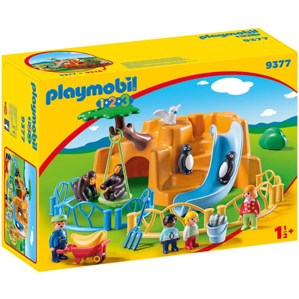 9377-Playmobil 123 Parc animalier
