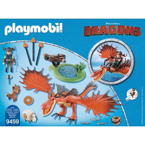 9459-Playmobil Dragons Rustik et Krochefer