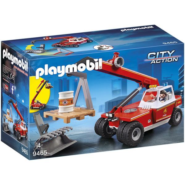 9465-Véhicule de pompier avec bras télescopique Playmobil City Action