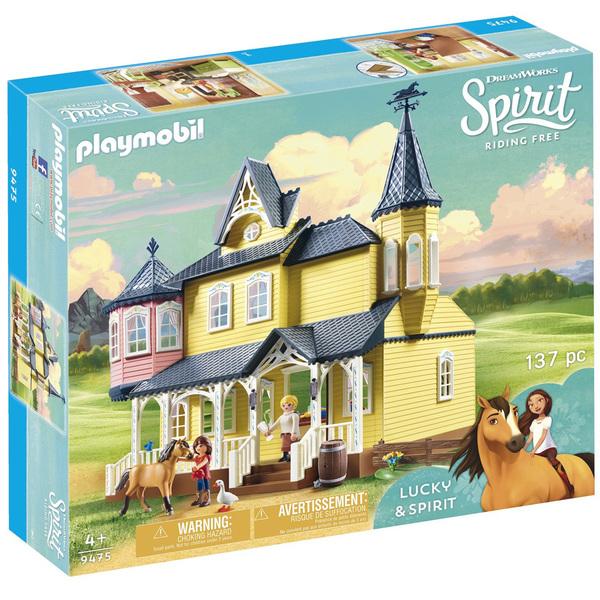 9475-Playmobil Spirit-Maison de Lucky