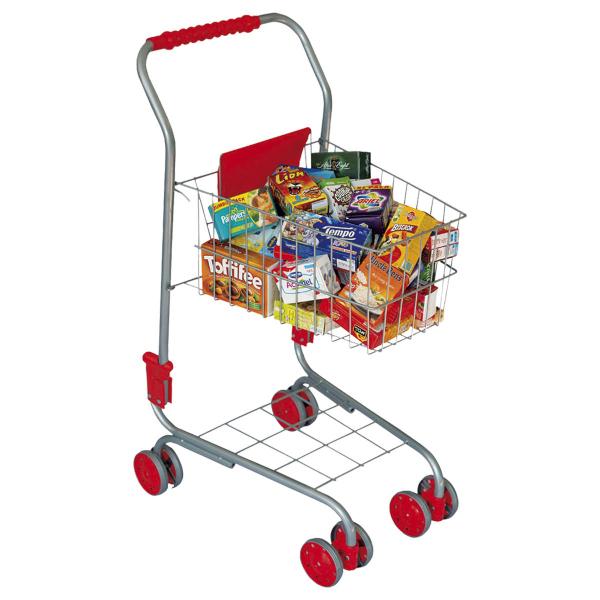 Chariot de supermarché en métal
