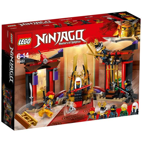 La 70651 Ninjago Confrontation Dans Trône Lego Salle Du Lego® dCeBox