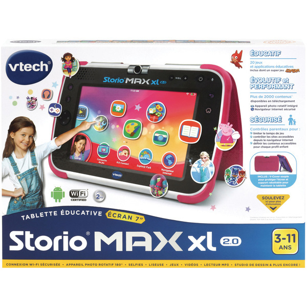 Tablette Storio Max XL 2.0 rose