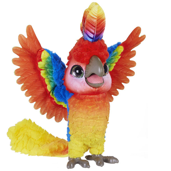 Furreal Friends-Peluche interactive Show-Coco Mon perroquet star