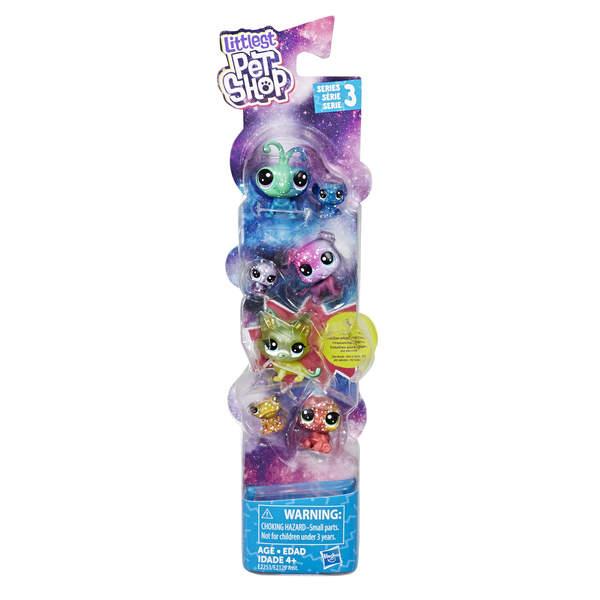 Littlest Petshop Galaxy-Tube de 7 figurines