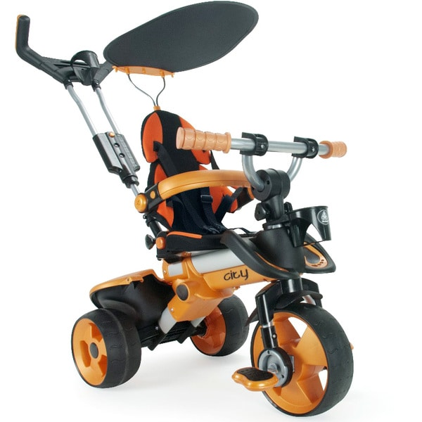 Tricycle évolutif City orange