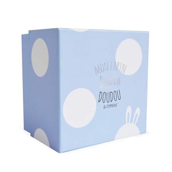 Doudou lapin bonbon bleu 16 cm