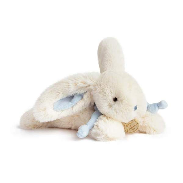 Doudou lapin bonbon bleu 25 cm
