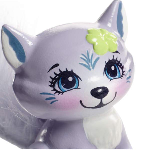 Enchantimals mini-poupée Winsley Wolf et Trooper