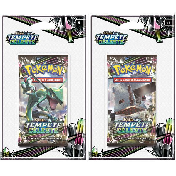 Booster Pokémon soleil et lune tempête céleste Blister