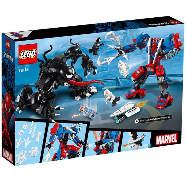 76115-LEGO® Marvel Le robot de Spiderman contre Venom