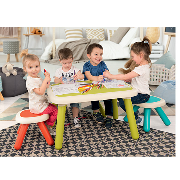 Kid table intérieure / extérieure - vert Smoby : King Jouet ...