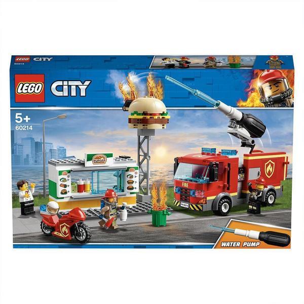 City De Au Lego® 60214 Restaurant Hamburgers Des L'intervention Pompiers j54ARL