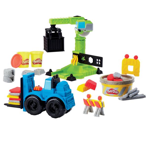 Pâte à modeler Play Doh Wheels - La Grue et le Chariot élévateur