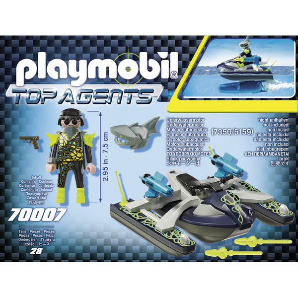 70007-Playmobil Top Agents-Scooter marin S.H.A.R.K Team