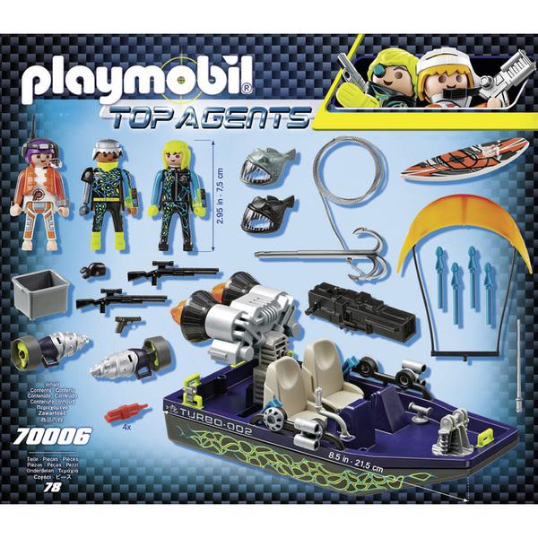 70006 - Playmobil Top Agents - Bateau harpon S.H.A.R.K Team