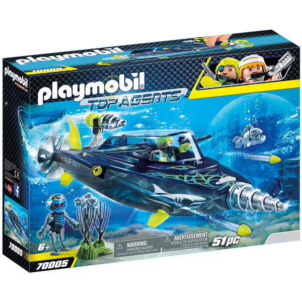 70005-Playmobil Top Agents-Sous-marin S.H.A.R.K Team